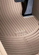 BMW X5 E53 Floor Mats Beige Rubber Weather Front & Rear Floormats 2000-2006 OEM