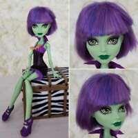 MattelMonster High Create A Monster Green Witch Doll Purple Wig Fun Pretty