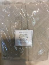 Restoration Hardware Vintage Diamond Matelasse Queen Bed Skirt Dune Beige NWT!