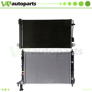 For 10-13 Buick Enclave 3.6L V6 Aluminium Rdiator & Condenser Cooling Assembly