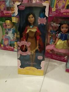 New In Box! Disney Store Pocahontas 17 Inch Singing Doll 2011 First Edition NEW