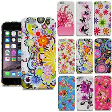 For Apple iPhone SE 5 5S 5C 4 4S 6 6S Plus Flower Silicone Gel Skin Case Cover