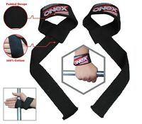 Padded Weight Lifting Training Gym Straps Hand Bar Wrist Support Gloves Wraps