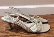 Etienne Aigner Impose Women Bone Slingbacks Heels Shoes 9M, Pre-owned
