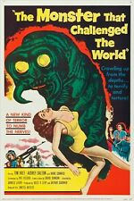 vintage horror film movie poster THE MONSTER THAT CHALLENGED THE WORLD 24X36