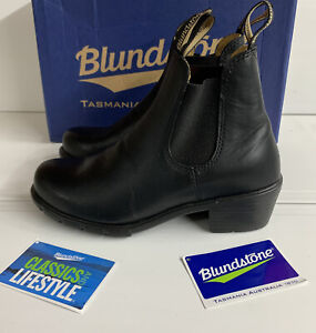 Blundstone 1671 Chelsea Elastic Sided Ankle Boots Black Leather 4.5 UK New Boxed