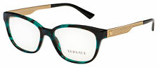 Versace Eyeglasses VE 3240 5076 52 Green Havana / Gold Frame [52-16-140]