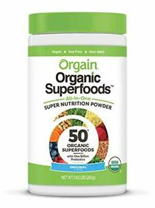 Orgain Organic Green Superfoods Powder, Original - Antioxidants, 1 Billion Probi