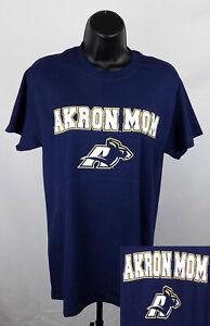 Akron Zips Mom Shirt Women's XL Blue Graphic Unisex Adult Size Shirt New ST138