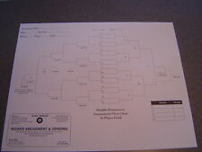 16 Player Laminated Double Elimination Tournament Chart * Pro Detailed Poster *
