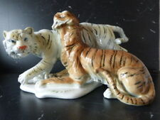 Superbe couple de tigres en porcelaine Karl Ens en parfait état
