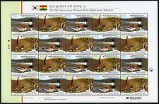 Korea Süd 2015 Wasservögel Vögel Gemeinschaftsausgabe Bolivien 3068-69 MNH