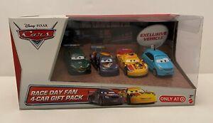 Disney Pixar Cars Race Day Fan 4-Car Gift Pack w/ ALLOY HEMBERGER (Target)