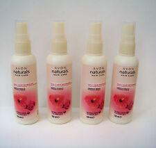 AVON Naturals Daily Hair Refresher X 4 Raspberry & Hibiscus New Free Post (T)