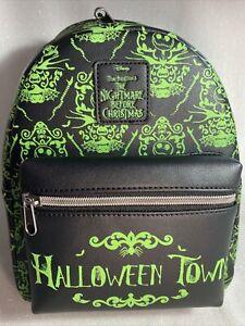 Loungefly Disney Nightmare Before Christmas Halloween Town Mini Backpack NWT!
