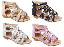 Sandalen für Mädchen aus Synthetik medium Breite mit Reißverschluss