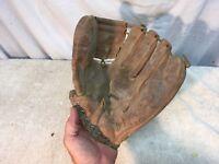 VINTAGE Leather PETE RUNNELS BALL HAWK WILSON 1941 BASEBALL GLOVE
