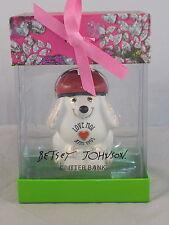 Betsey Johnson White Paris Critter Bank French Poodle Dog Piggy Bank Boxed $35