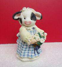 Mary's Moo Moos Milk Maid Wedding Party Cow Figurine