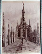 GRANDE PHOTO ALBUMINE FIN XIX MILANO TOIT DE LA CATHEDRALE ITALIE BROGI AL23