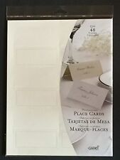 Gartner Studios Ivory Pearl Place Cards, 48 Count, 83004