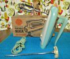 Vintage GE General Electric Atomic Turquoise Aqua Hand Mixer Model #30M47 60s