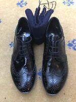 New Prada Mens Black Leather Lace Up Shoes UK 5 US 6 EU 39 2EE 113