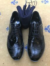 Nuevo Para Hombre De Cuero Negro Encaje Arriba Prada Zapatos UK 5 nos 6 EU 39 2EE 113