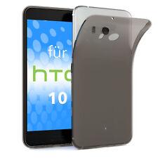Schutz Hülle für HTC 10 Case Silikon Handy Cover Anthrazit