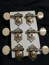 vintage Acoustic Guitar open gear Tuning Pegs Tuners Machine Heads 3/side
