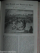 Boxing Knock Outs Gully Johnson Belcher Cribb Antique Old Edwardian Article 1908