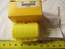 "Hubbell Plug Lockout, Yellow, 5/16"" Dia. Model #HLDMP"