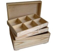 Pine wood jewellery memory box DD119 storage trinket plain gift Xmas