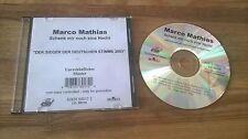 CD Schlager Marco Mathias - Schenk mir noch eine Nacht (4 Song) Promo ARIOLA sc