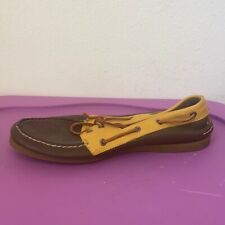 MENS SPERRY TOP SIDER NON MARKING BROWN SHOES 13 M