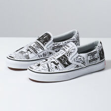 VANS ASHLEY WILLIAMS Slip-On Newspaper White Sneakers Limited Edition Original