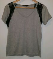 Ladies Top Size 10 Grey Dorothy Perkins <MJ3900