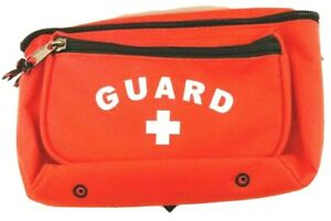 New Red Nylon Lifeguard First Aid Fanny Pack