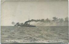 1913 Genova I Divisione in Assetto di Combattimento nave guerra FP B/N VG ANIM