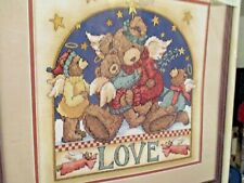 Angel Bear Love  ~ Dimensions Stamped Cross Stitch Kit ~ Made in USA