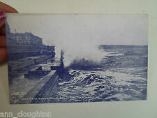 Vintage  Postcard BRIDLINGTON ROUGH SEA DURING MARCH GALE Wedgwood Series