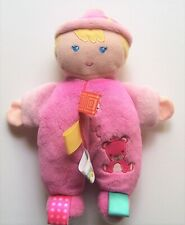 """TAGGIES 9"""" Doll Baby Pink Embroidered"""