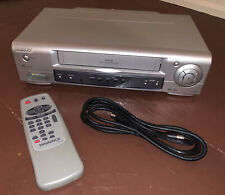 Philips Magnavox MVR430MG21 4-Head VHS Video Cassette Recorder w/ RemoteTested