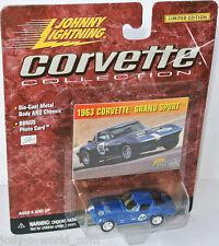 Corvette Collection 1963 CHEVY CORVETTE GRAND SPORT - blue 1:64 Johnny Lightning