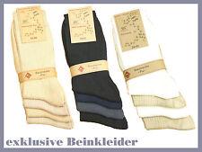 4-12 PAR CALCETINES hombre, 100% algodón, NATURAL, talla 39-46 (32520,21, 22)