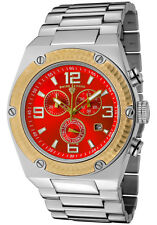 Swiss Legend 40025P-55-GB Throttle Chronograph Two-Tone SS Red Dial Men's Watch