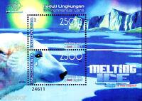 Indonesia 2007, Polar Bear is CRYING > Melting Ice , M/S MNH