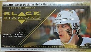 NHL 2012-13 UPPER DECK BLACK DIAMOND FACTORY SEALED BLASTER BOX-KREIDER ROOKIE?