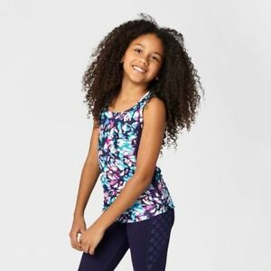 c9 by Champion Girls Printed Performance Tank Purple/Blue