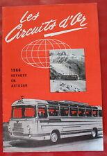 1966 - Les Circuits d'Or, H de Boeck, Bruxelles / Voyages en Autocar / Catalogue
